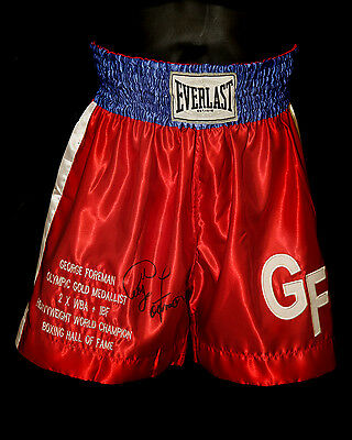 *New* George Foreman Hand Signed Replica Boxing Trunks : B