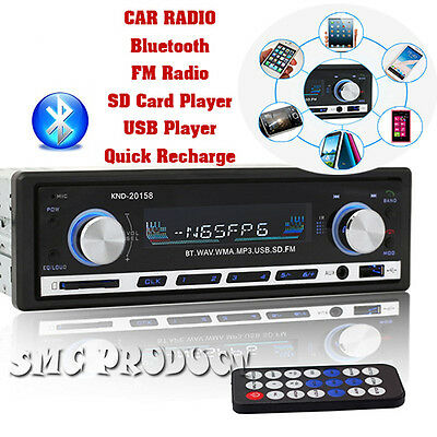 Bluetooth Car In-Dash Stereo FM Radio MP3 CD Audio Player with USB/SD MMC 1 DIN