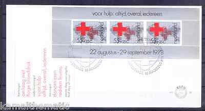 Netherlands 1978 FDC with SS, Health Care, Red Cross