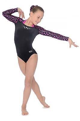 The Zone Astral Jewel Long Sleeve Velour Gymnastics Leotard - Girls Sizes