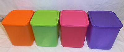 BNIP TUPPERWARE LARGE 1.8L SQUARE STORERS or CANISTERS (set of 4)
