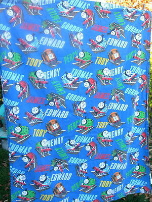 """THOMAS TRAIN & FRIENDS Toddler Cotton Flat Sheet or Cover 45"""" X 58"""" Great Décor"""