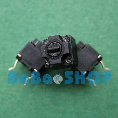 6pcs Panasonic Square Micro Switch for Mouse Black Button Brand New