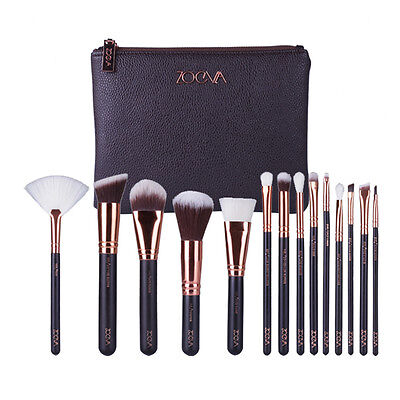 15PCS ZOEVA Complete Make Up Foundation Blush Brush Set Cosmetic Kit New+CASE