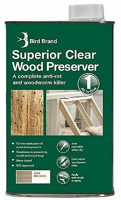 Bird Brand Superior Clear Wood Preserver | Several Sizes & Options