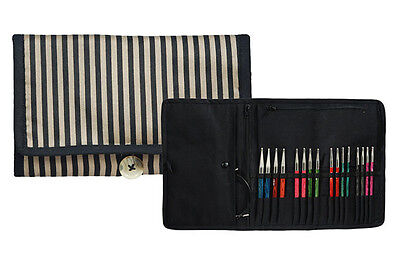 Knitters Pride Ribbons Fabric Interchangeable Knitting Needle Organizer Case