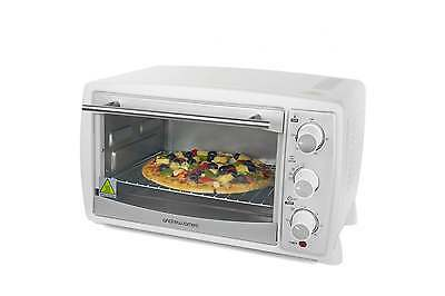 Andrew James 20 Ltr White Convection Mini Oven And Grill Table Top Caravan Oven