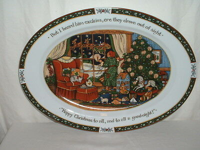 "International China A Christmas Story 16 1/8"" Oval Serving Platter Susan Winget"