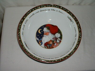 "International China A Christmas Story 9 1/2"" Round Serving Bowl Susan Winget"