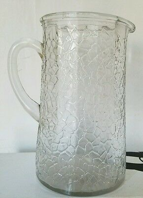 """Vintage LE Smith By Cracky or Crackle pattern 8""""  Pitcher- Barware"""
