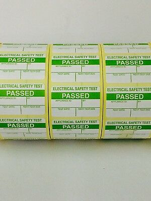 2000 PAT Test/Testing Electrical PASSED Labels / Stickers FREE P+P