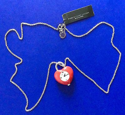 MARC By MARC JACOBS Heart Pendant Necklace Watch Women Fashion Jewelry Girls