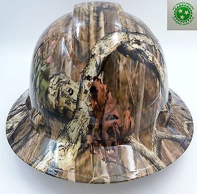 Hard Hat FULL BRIM custom hydro dipped , OSHA approved BREAK UP INFINITY CAMO