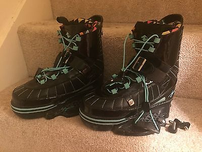HYPERLITE Wakeboard Full Boot Bindings Black Size 5.5 UK 38.5 GREAT CONDITION