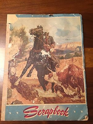 "Vintage Paper Scrapbook with Old West Theme 9"" X 12"""