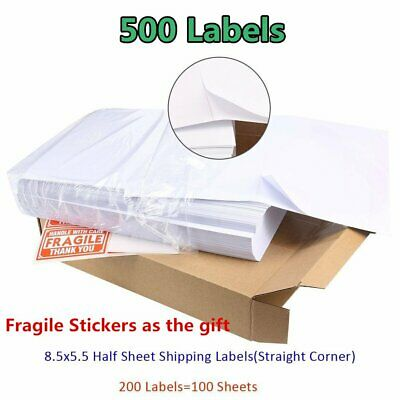 500 Shipping Label 8.5 x 5.5 Postage Self Adhesive 2 Per Sheet - eBay UPS PayPal
