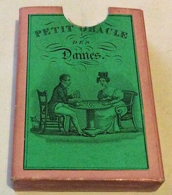 Fine Early 19th C French Miniature ' Petit Oracle' Fortune Telling Card Game