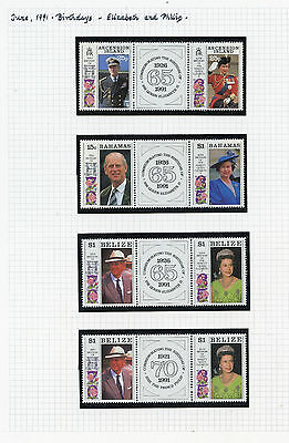 Weeda British Commonwealth 1991 Omnibus issue gutter pairs with labels CV $71+