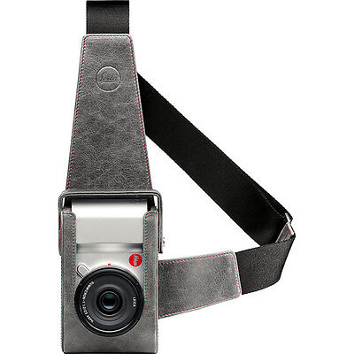 NEW! Original Leica Leather Holster for Leica T Camera (Stone/Gray)