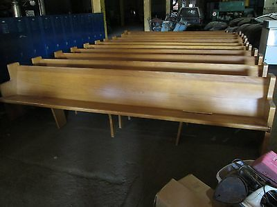Church Pew Bench Stool Seat Wooden 12Ft  Local Pick Up Ohio