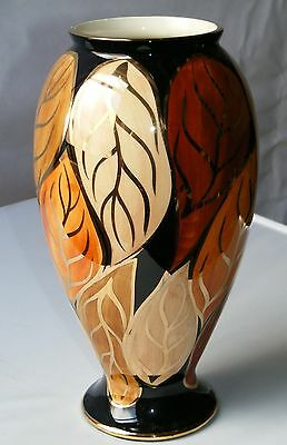 Oldcourt Ware Hand painted Large Gilded Lustre Vase
