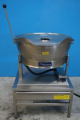 Cleveland Set-15 15 Gallon Braising Pan Tilt Skillet Electric Kettle With Stand