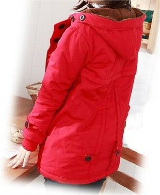 BRAND NEW Stylish Comfortable Fully Lined Vibrant RED Maternity Coat  - Size 8