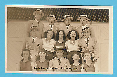 """Rare Entertainers Postcard - Harry  Gold's """" Entertainers """", Margate  -  1933"""