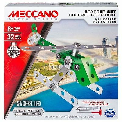 Meccano 1 Model Set Helicopter Green