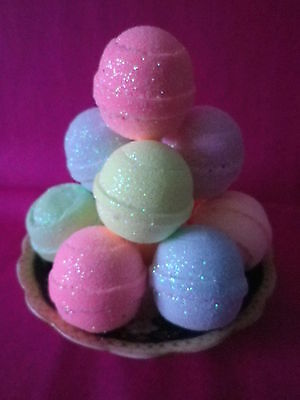 10 Lush Smelling Bling Bath Bombs Fizzy Special Offer £10.99