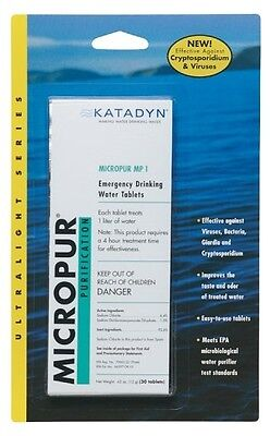 New! Katadyn Micropur Purification Tablets 20 Pack Fresh Drinking Water 8014996