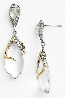 Alexis Bittar Jardin Mysteré Clear Lucite Vine Drop Earrings