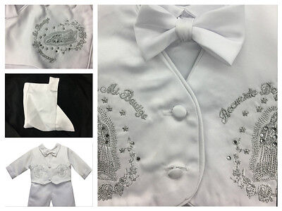 Baby Boy Christening Baptism white Outfit/Virgin Marry/Hat/pieces Outfit/XS-XL