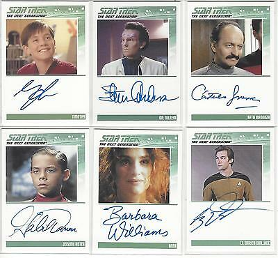 Star Trek The Next Generation Serie 2 TNG: 5 Autograph Cards freie Auswahl
