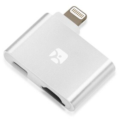 Dash-i Plus MicroSD Reader for iPhone/iPad/iPod with Lightning Port, Silver