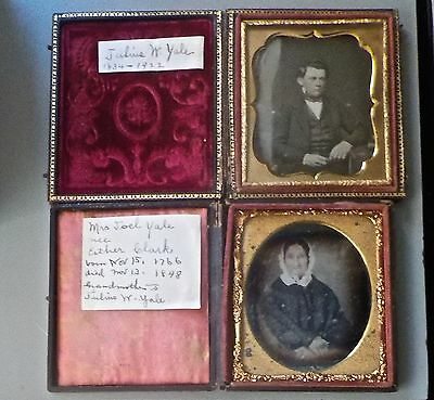 Identified Daguerreotypes Esther Clark Yale & Julius W. Yale 1766-1834  Ct.