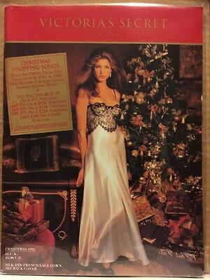 Vintage STEPHANIE SEYMOUR Christmas 1992 VICTORIA'S SECRET Catalog