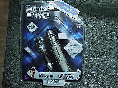 Doctor Who 10th Doctor's Sonic Screwdriver with Ultraviolet Light & Pen BBC