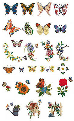 Brother Embroidery Card #47 - Butterflies