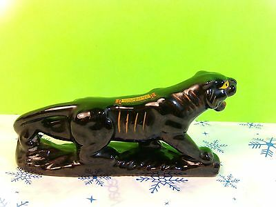 Vintage Black Panther TOTE EM IN ZOO Black Ceramic Panther Figurine Collectible