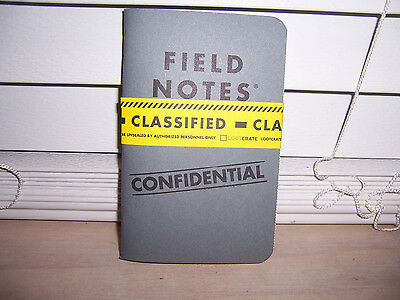 Field Notes Confidential Classified Mini Notebook Journal Loot Crate Exclusive