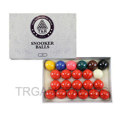 Billiard Snooker Balls Set - 2 Inch & 2-1/16 Inch Available 15 Red AU Free Post