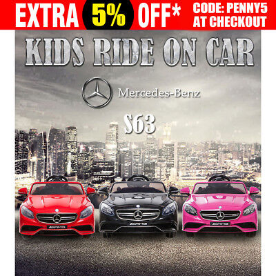 Kid Ride-On Car Electric Licensed Mercedes-Benz AMG S63 Child Toy Remote