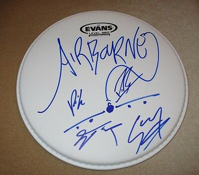 """Airbourne - Signed 10"""" Drumhead *Band Autographed* w/Coa"""