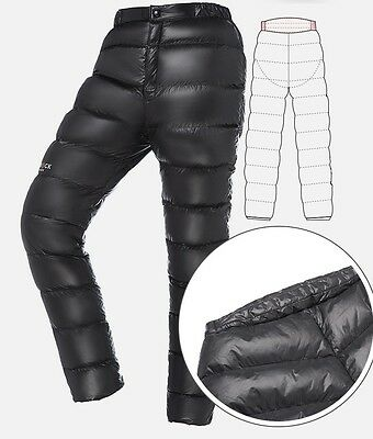 HIGHROCK Outdoor Ultralight Duck Down Pants Trousers Winter Warm Thermal Unisex