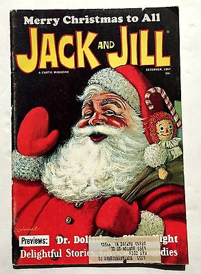 December 1967 Jack and Jill Childrens Magazine Christmas Issue w/ Santa Games
