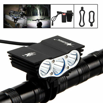 12000Lm Solarstorm 3 x CREE XM-L U2 LED 4-Mode Bicycle Light Headlamp + Battery