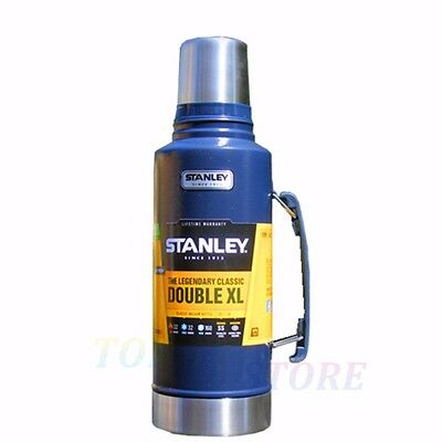 B Stanley Classic 1.9L Stainless Steel Thermos Flask Vacuum Insulated Bottle Blu