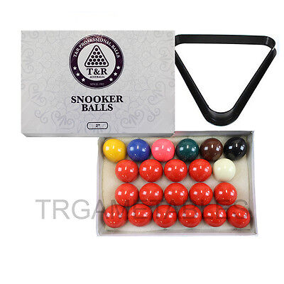 Billiard Snooker Balls & Triangle Rack Set - 2 Inch & 2-1/16 Inch Available AU