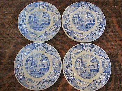 """Spode Blue And White Stoneware """"blue Room""""  Round Coasters (4)"""